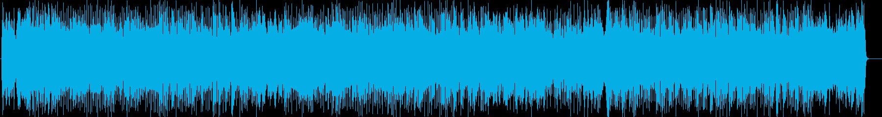 トレンディドラマ風シンセサイザー系曲の再生済みの波形