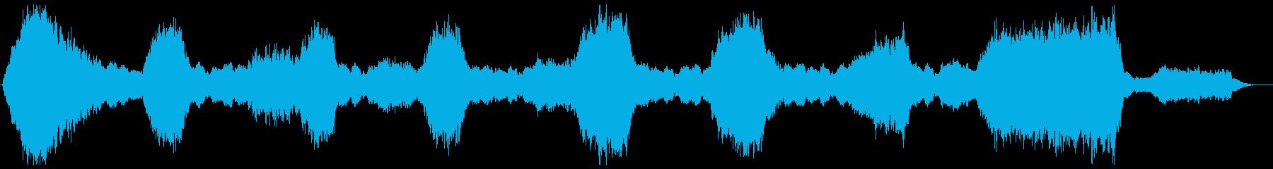 心霊番組などの恐怖感の演出 怖い曲の再生済みの波形