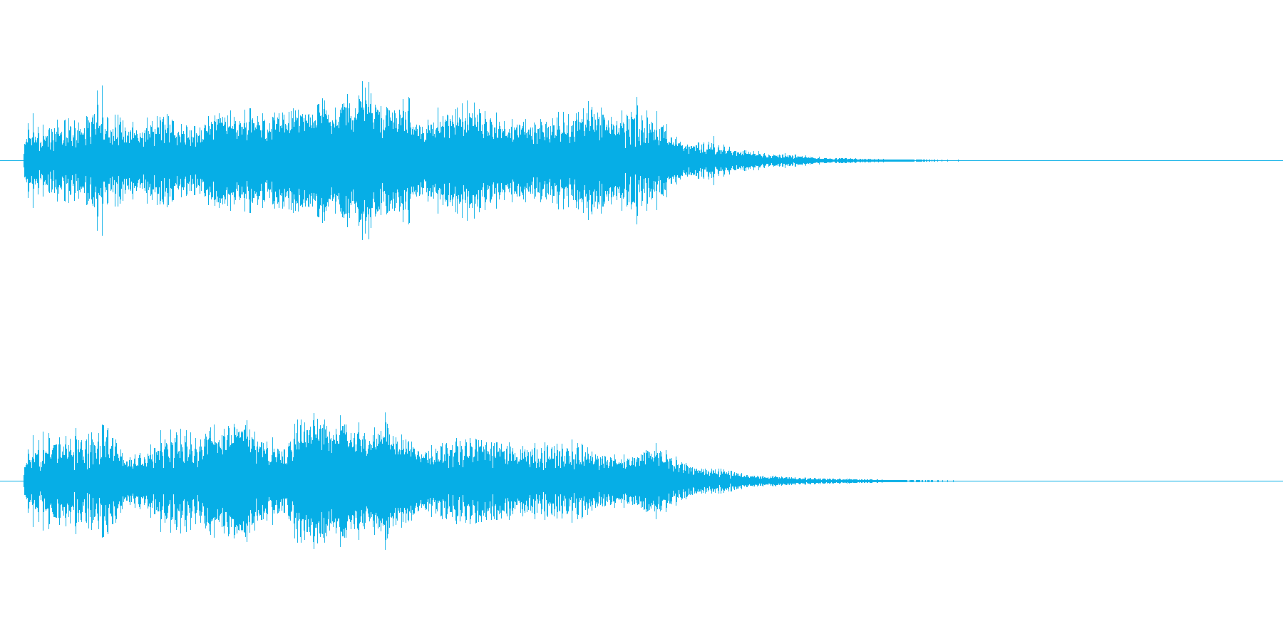 やわらかなイメージのサウンドロゴ・企業等の再生済みの波形