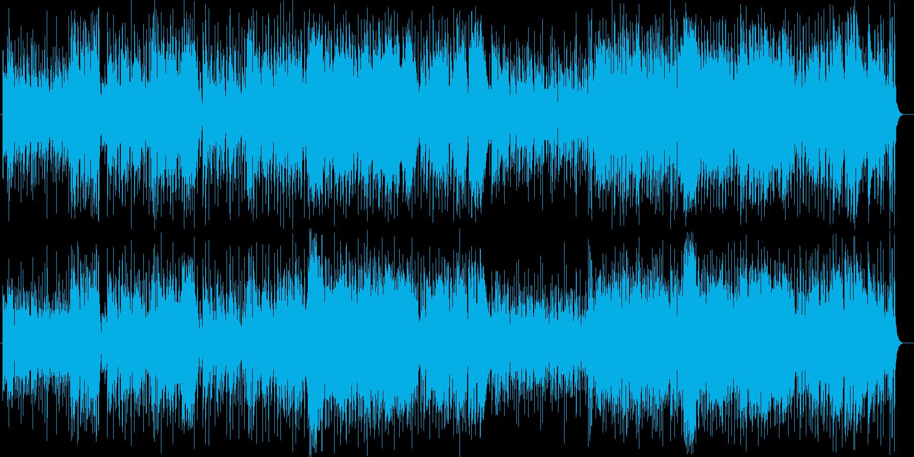 明るくてアップテンポが特徴のフュージョンの再生済みの波形