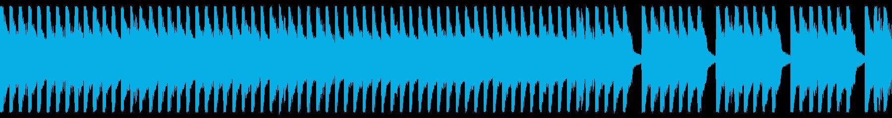8bit ほのぼの楽しいBGM ループ用の再生済みの波形