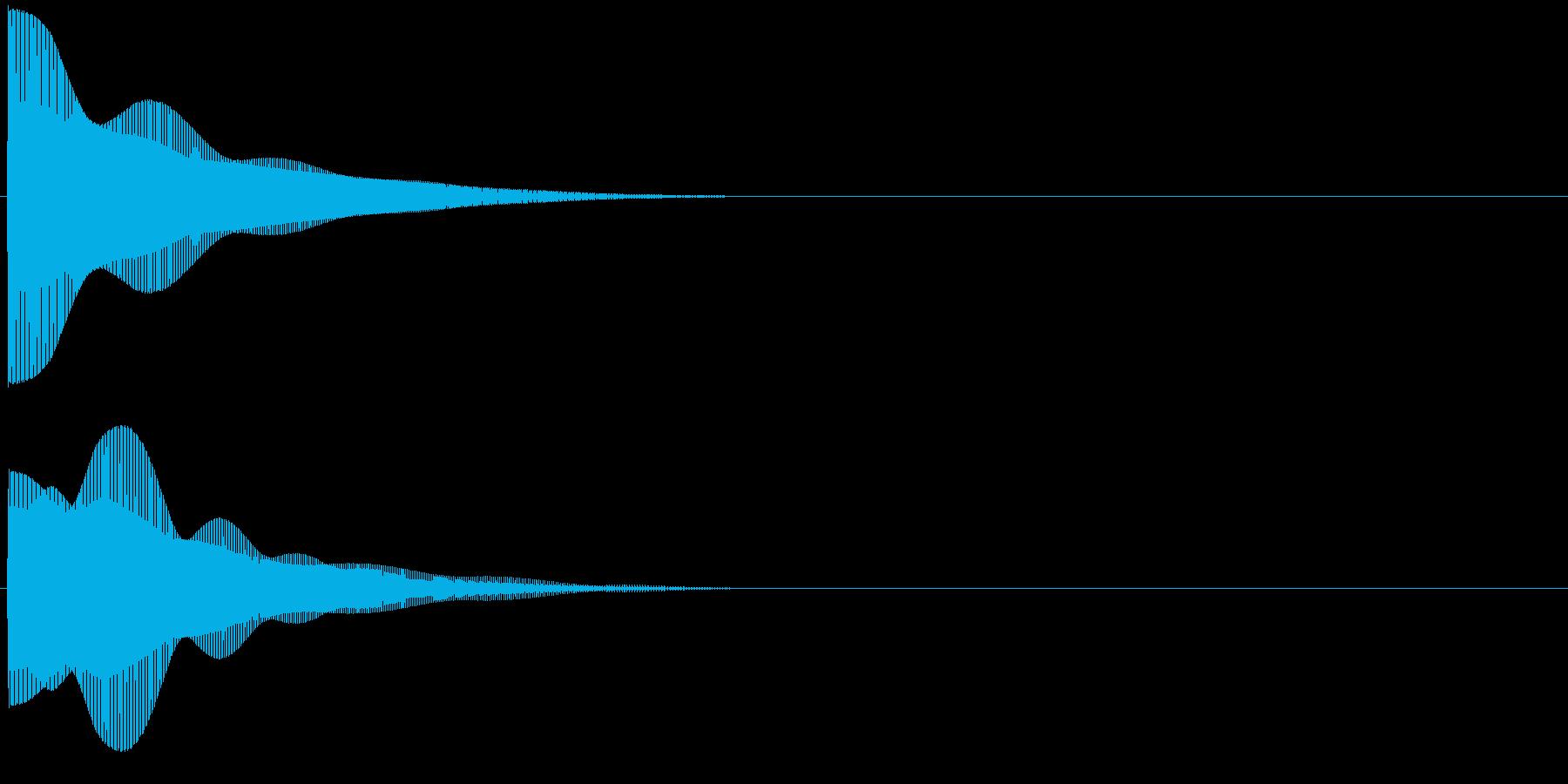 プー・・(高音)の再生済みの波形