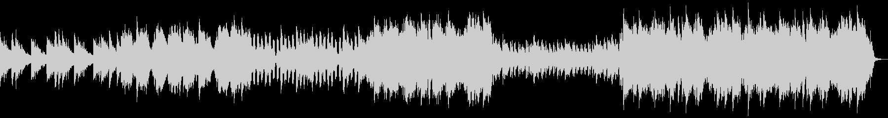 ゆったりとした日常系BGMの未再生の波形