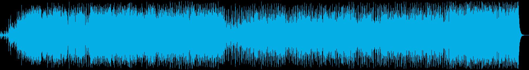 透き通ったボーカルのニューエイジの再生済みの波形