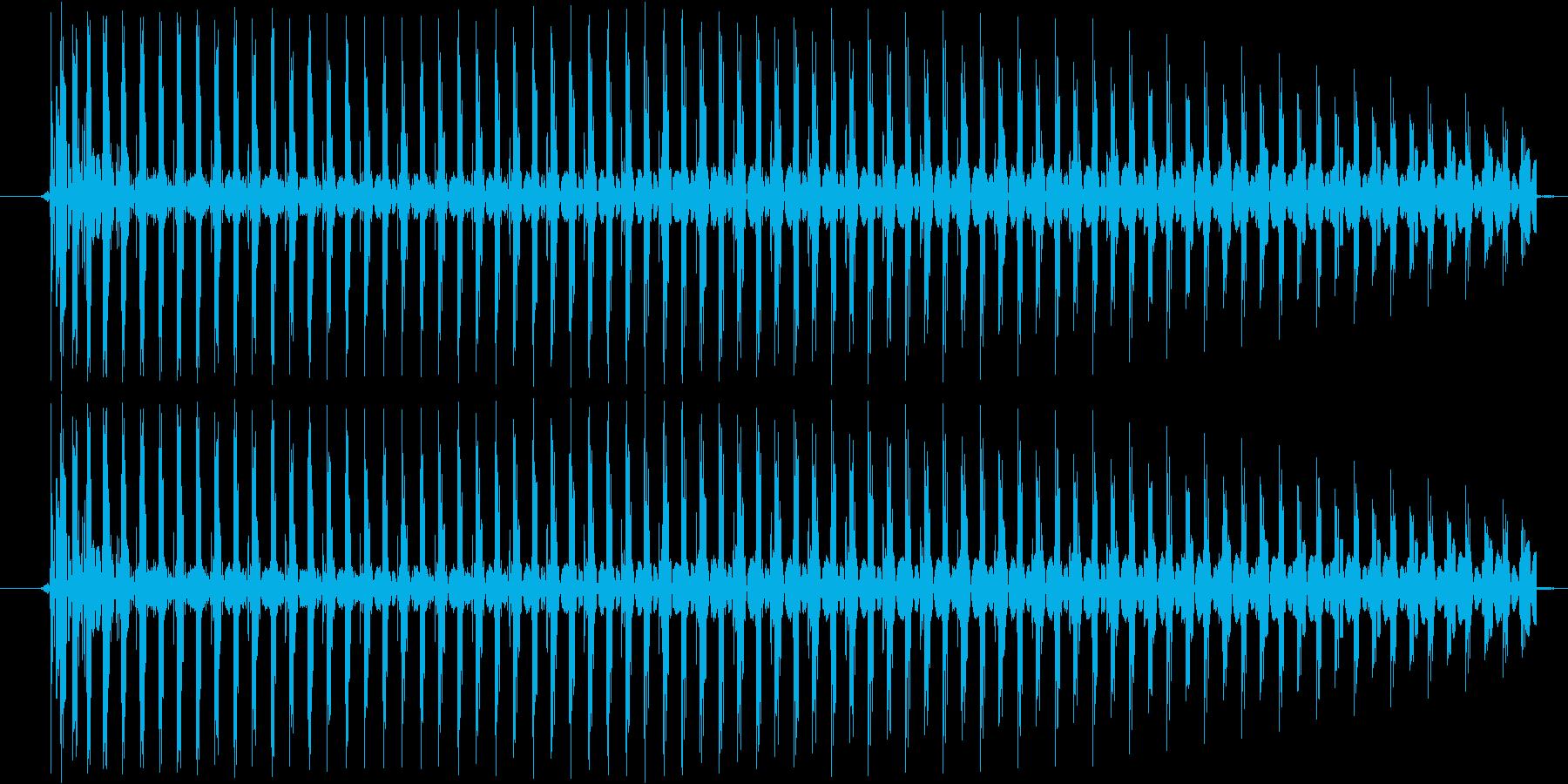 【効果音/電子音/バイーン】の再生済みの波形