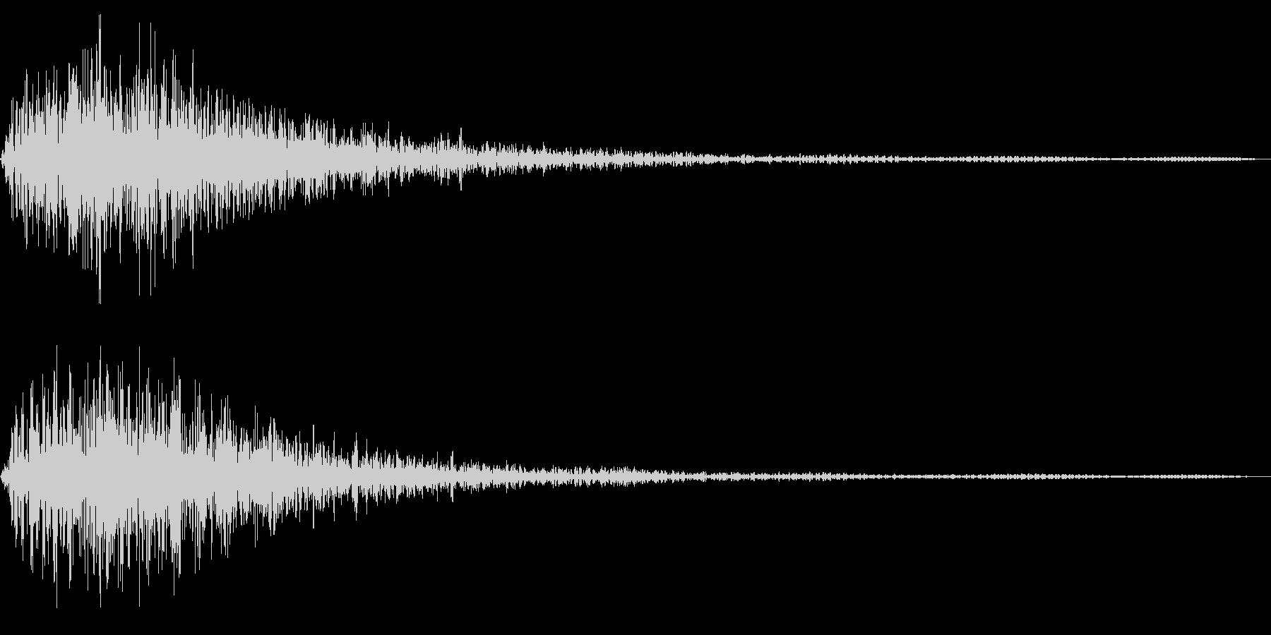不吉な出現音の未再生の波形
