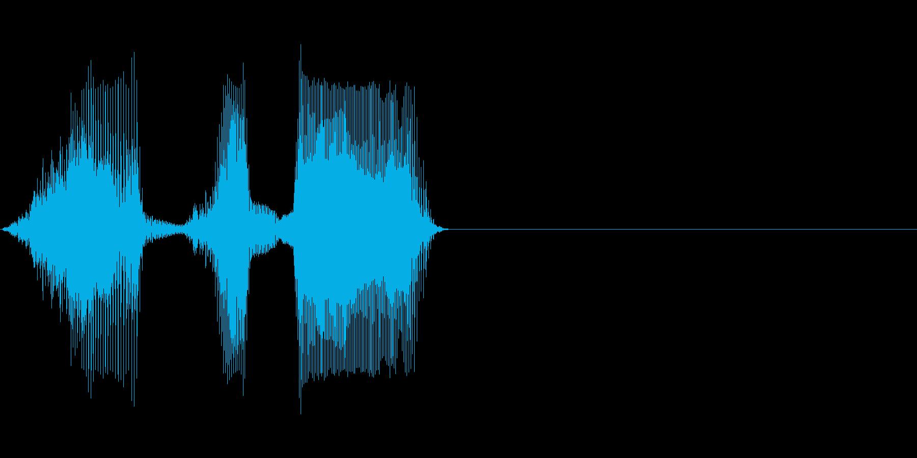 始めの再生済みの波形