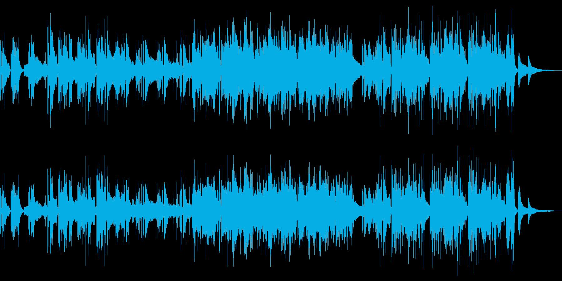 サスペンス、ジャズ、アコースティックの再生済みの波形