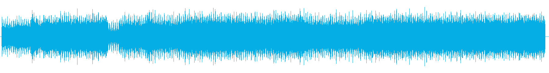 四つ打ちのダンスロックミュージックの再生済みの波形