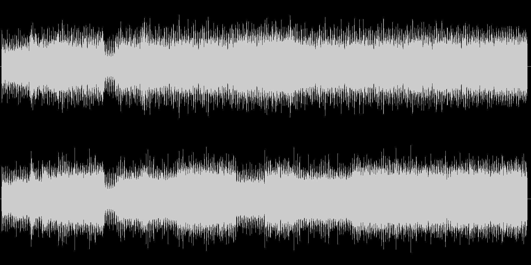四つ打ちのダンスロックミュージックの未再生の波形