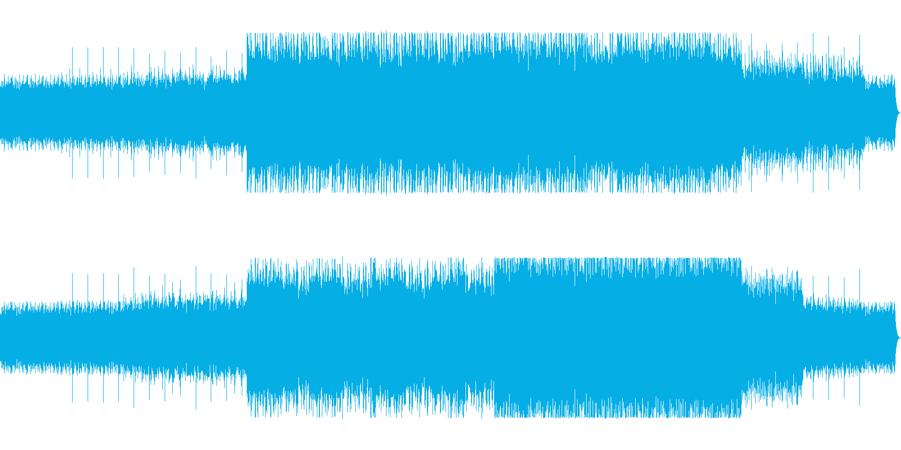 不思議な木琴リフレインミュージックの再生済みの波形