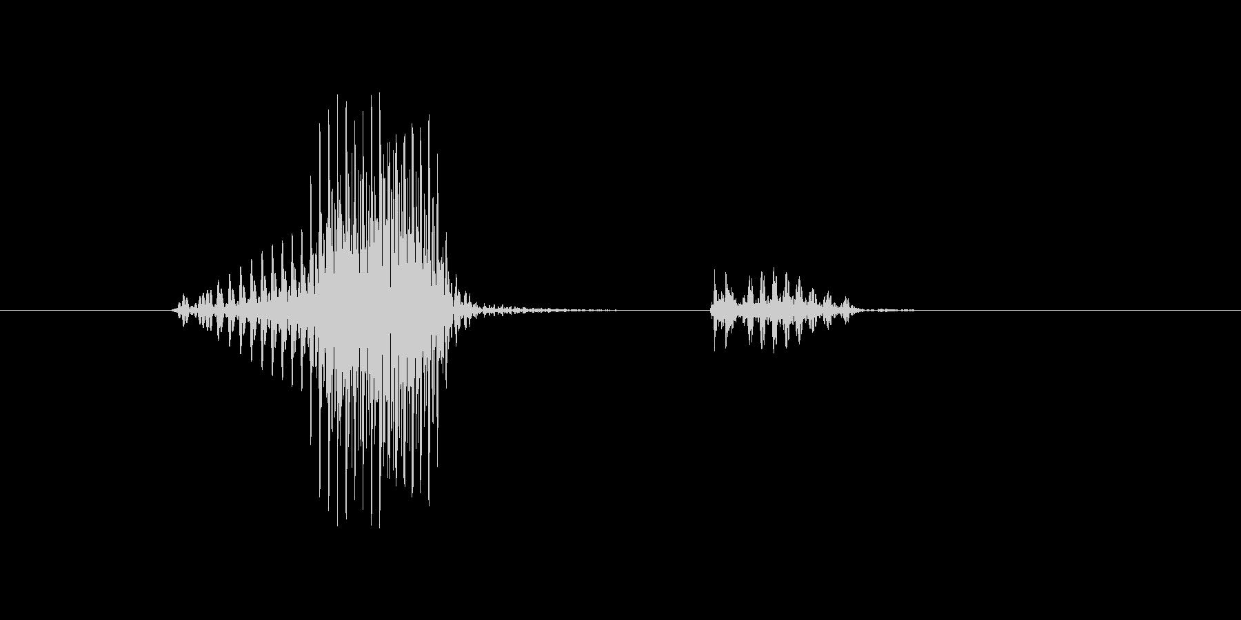 ノックの未再生の波形
