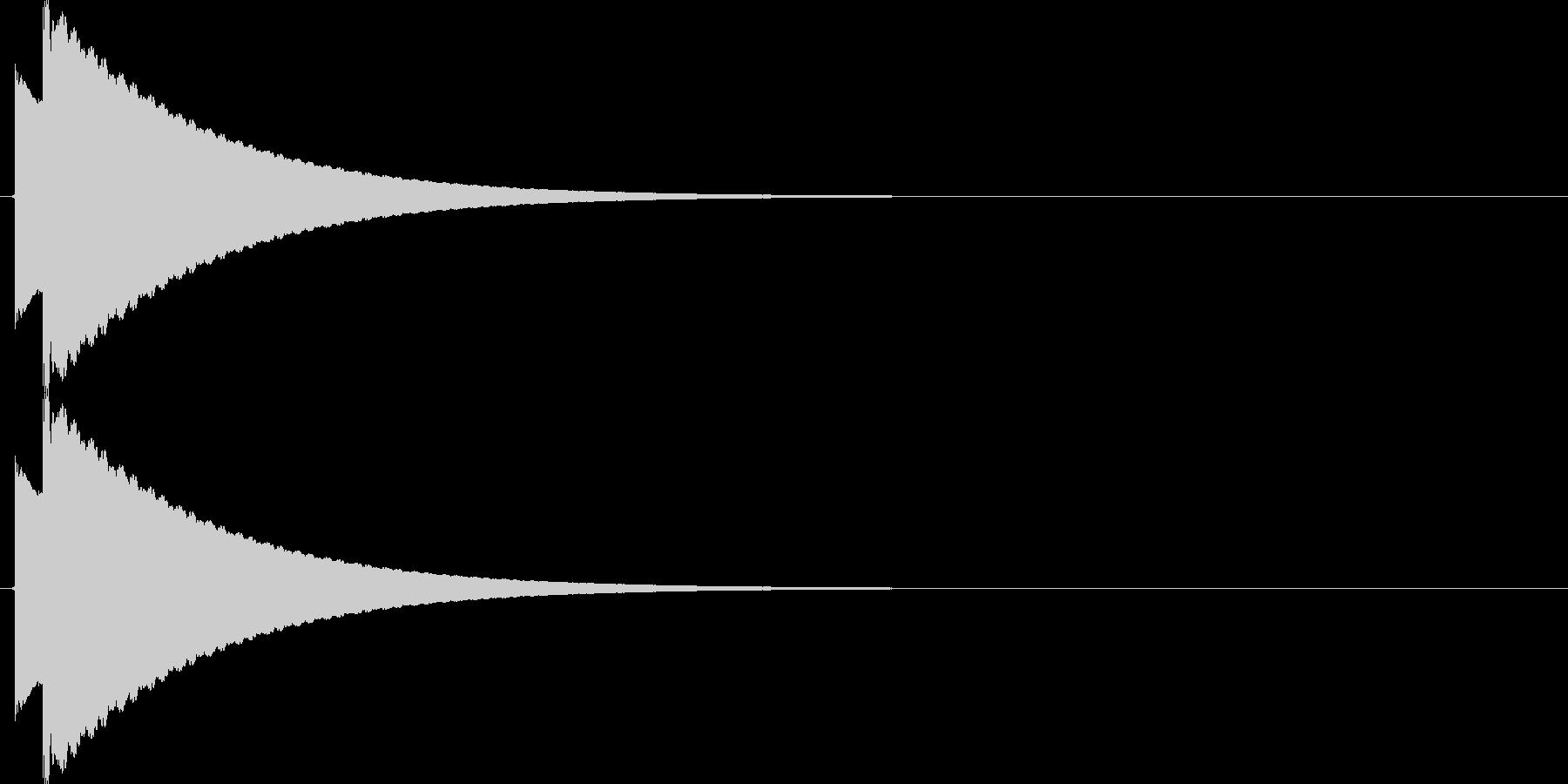 【SE】ピキーン02(コーラス)の未再生の波形
