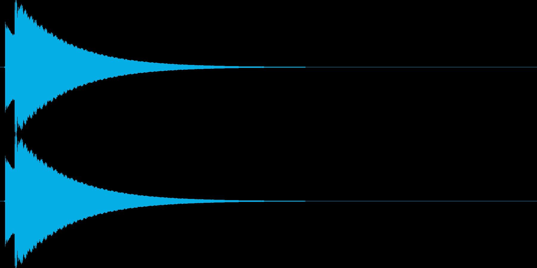 【SE】ピキーン02(コーラス)の再生済みの波形