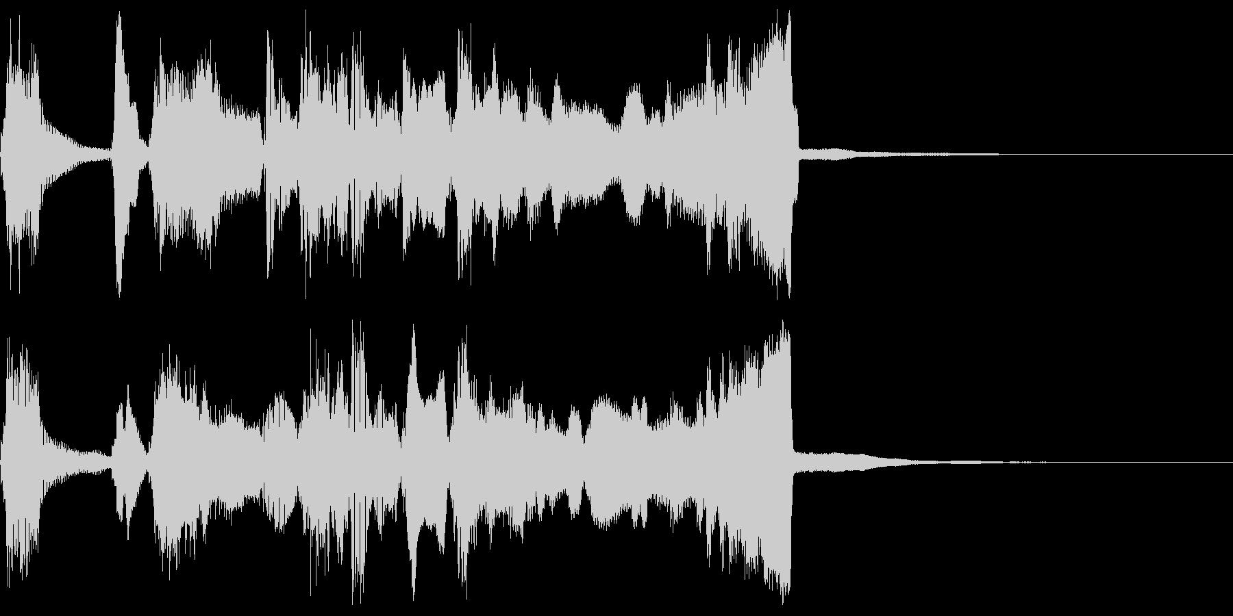シンプルなファンファーレ2+ハモの未再生の波形