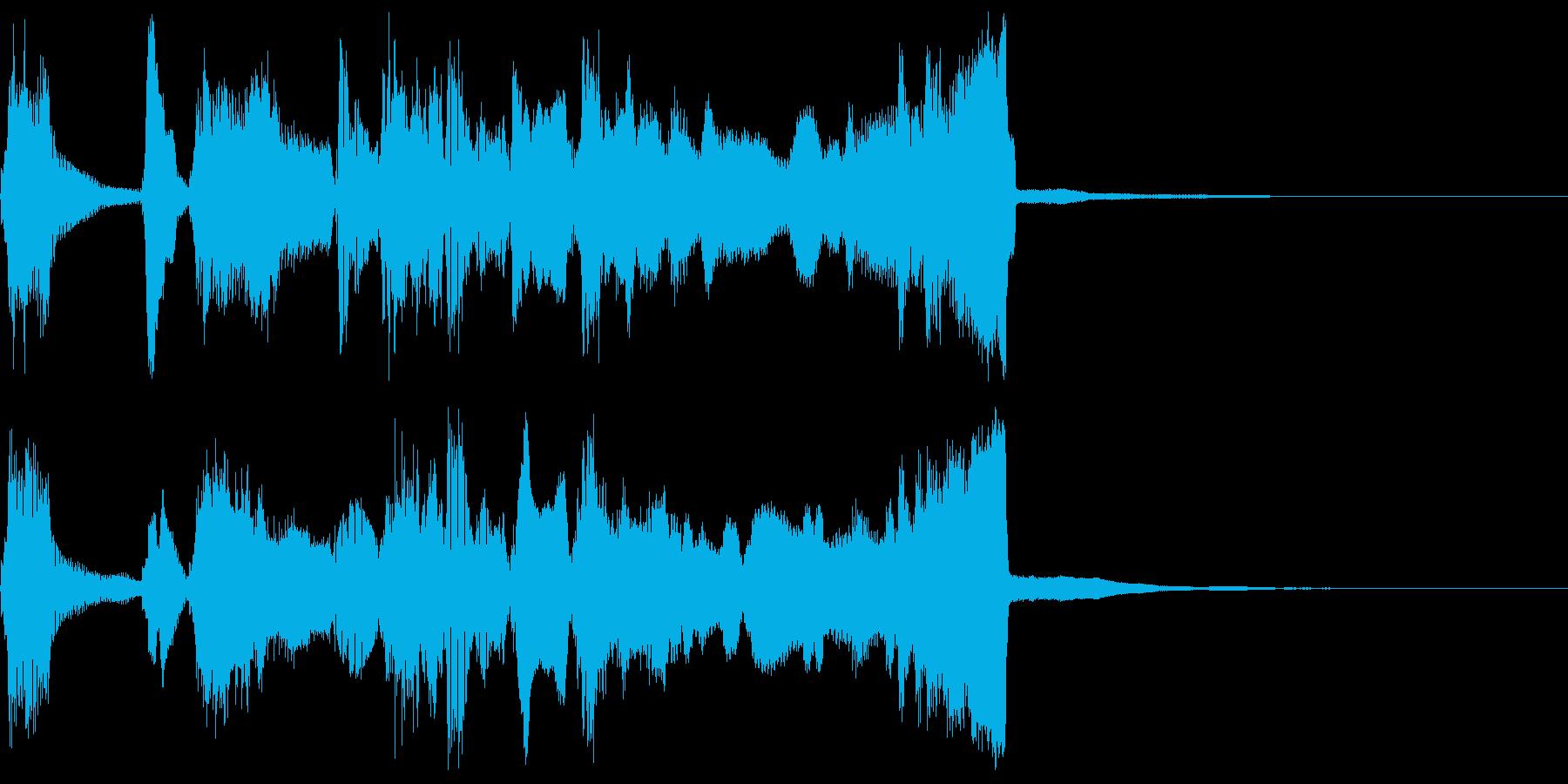 シンプルなファンファーレ2+ハモの再生済みの波形