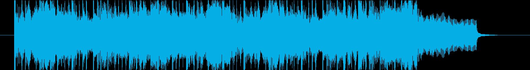 さわやかで都会的なフルートBGMの再生済みの波形