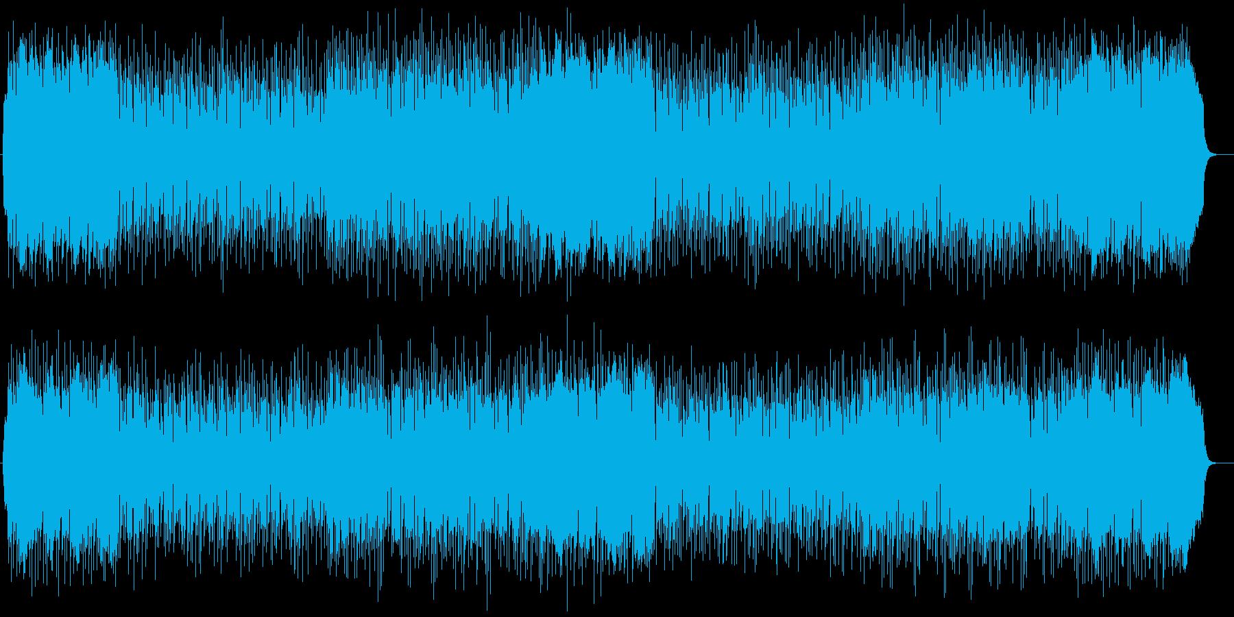明るく爽やかなシンセサイザーのポップスの再生済みの波形