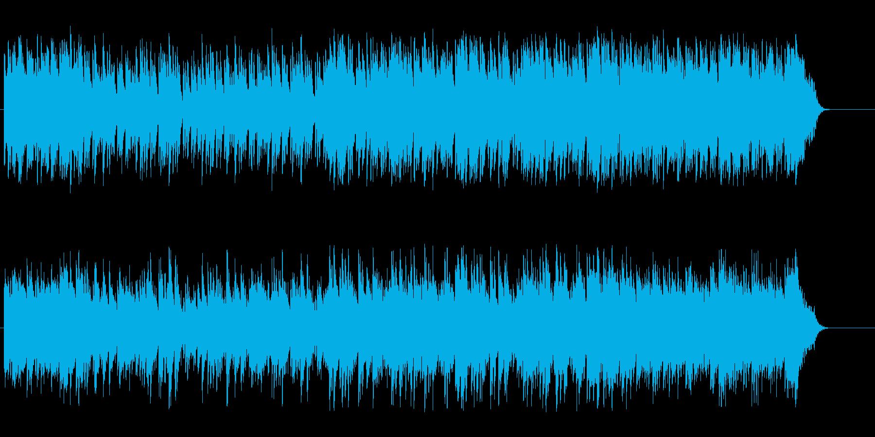 安らかなひとときを過ごす穏やかなボサノバの再生済みの波形