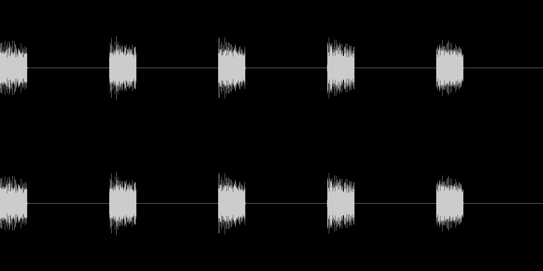 シュイ×5(5列スロットが止まる音)の未再生の波形