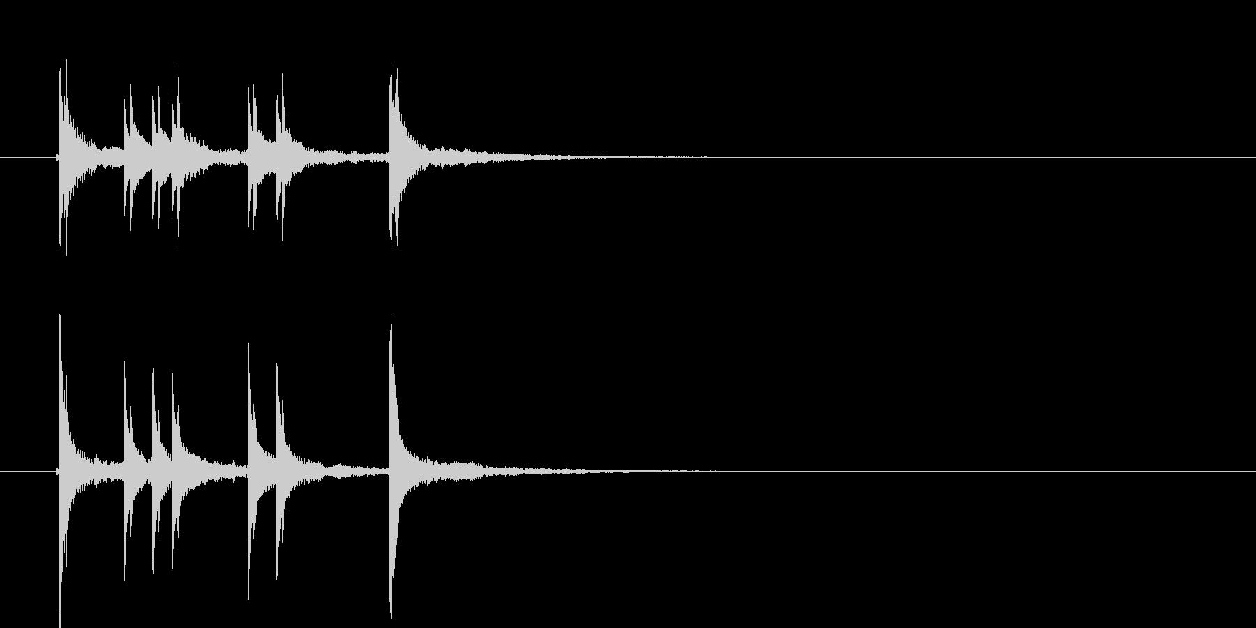 カンカラカンカン(和風の効果音)の未再生の波形