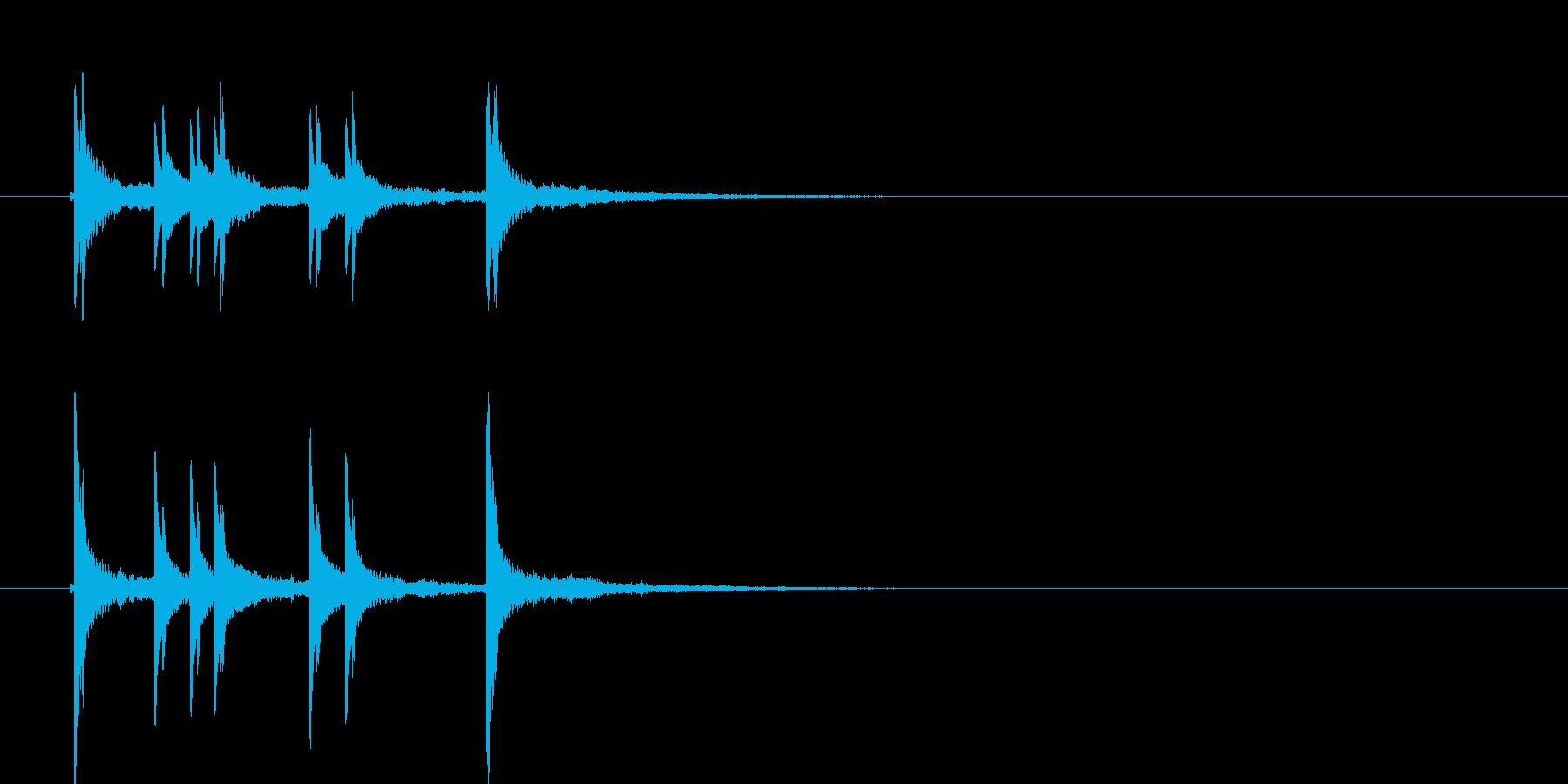カンカラカンカン(和風の効果音)の再生済みの波形