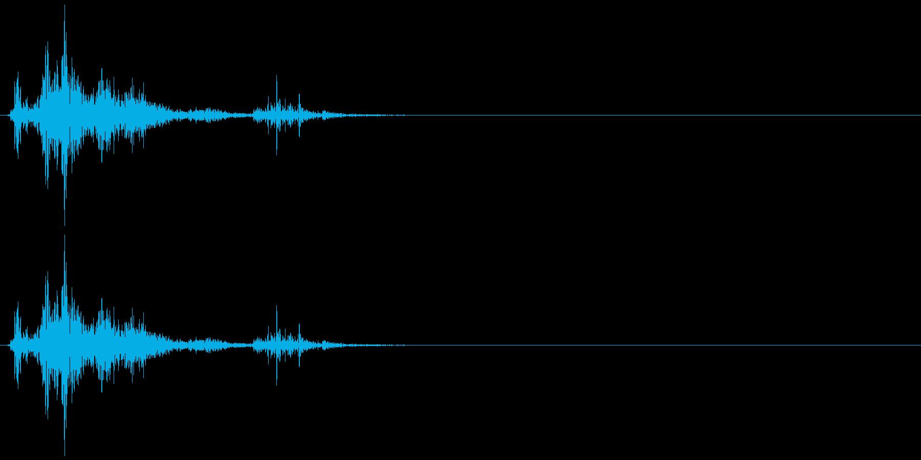 ドサッ(人が倒れる音)01の再生済みの波形