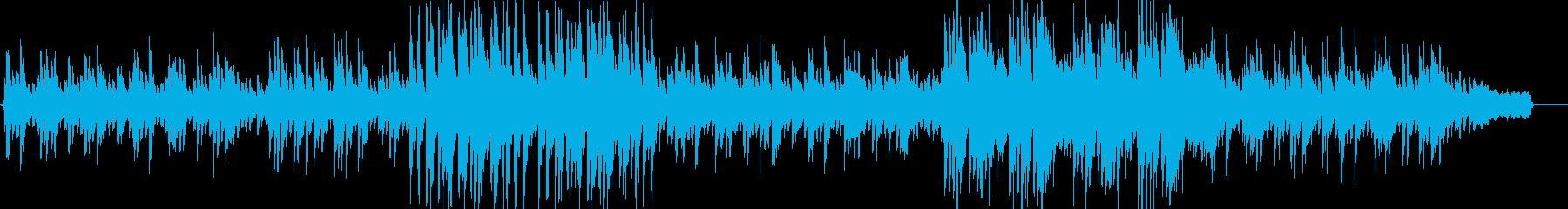 ピアノとストリングスによる優しいバラードの再生済みの波形