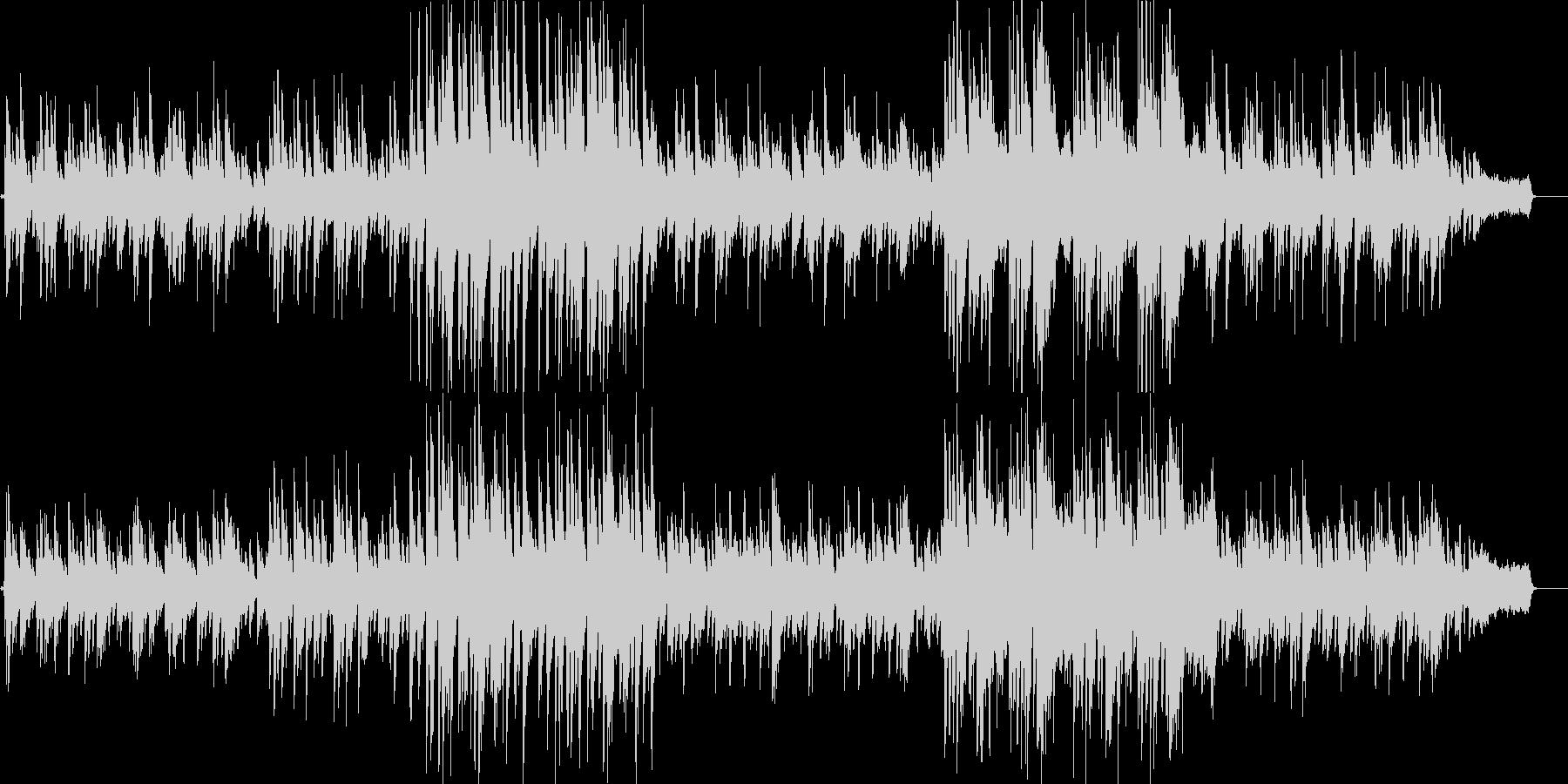 ピアノとストリングスによる優しいバラードの未再生の波形