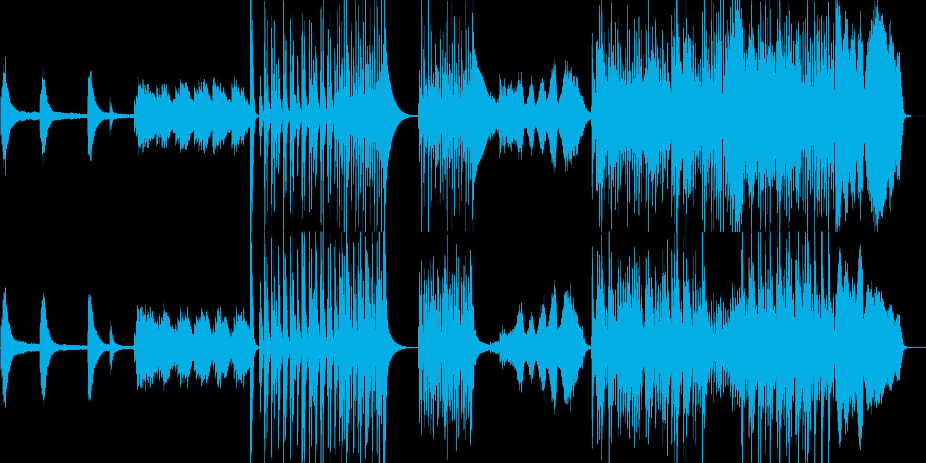 ピアノと室内楽風のコミカルなBGMの再生済みの波形