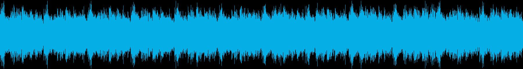 急ぐ展開などの切迫したBGMの再生済みの波形