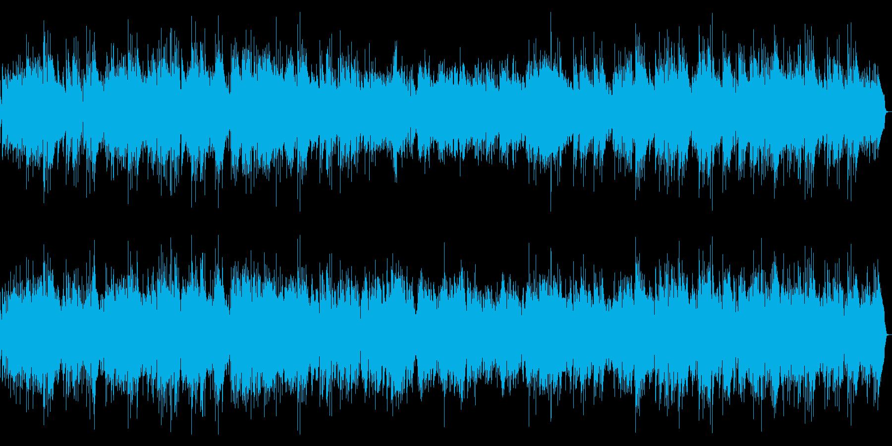 エレキギターの明るいゆったりポップの再生済みの波形