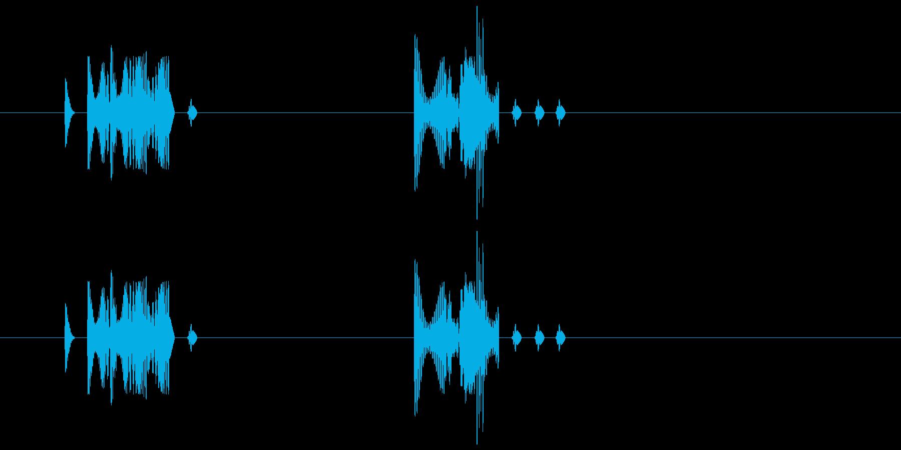 155 水アブク音1の再生済みの波形