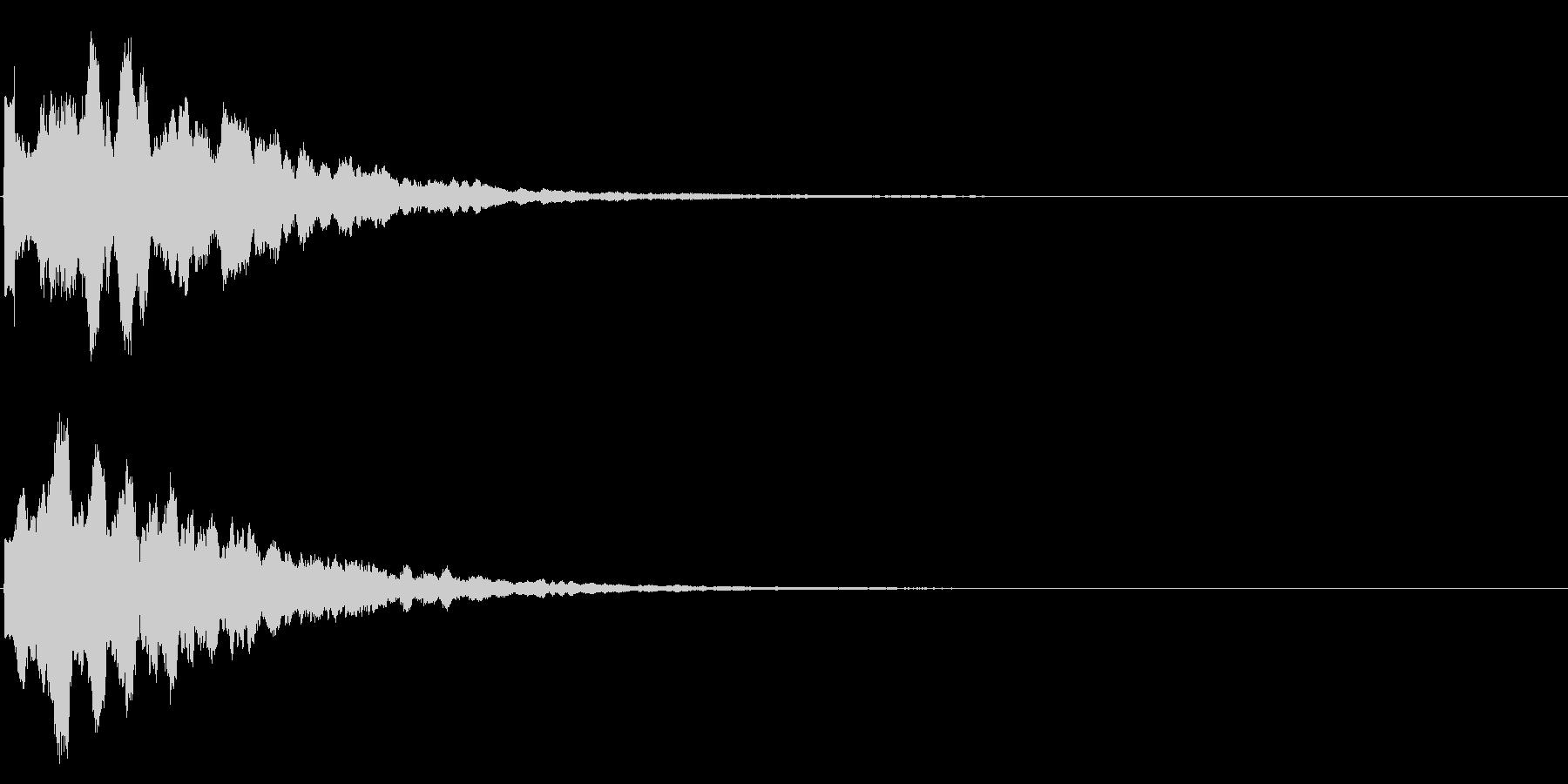 ゲームスタート、決定、ボタン音-054の未再生の波形