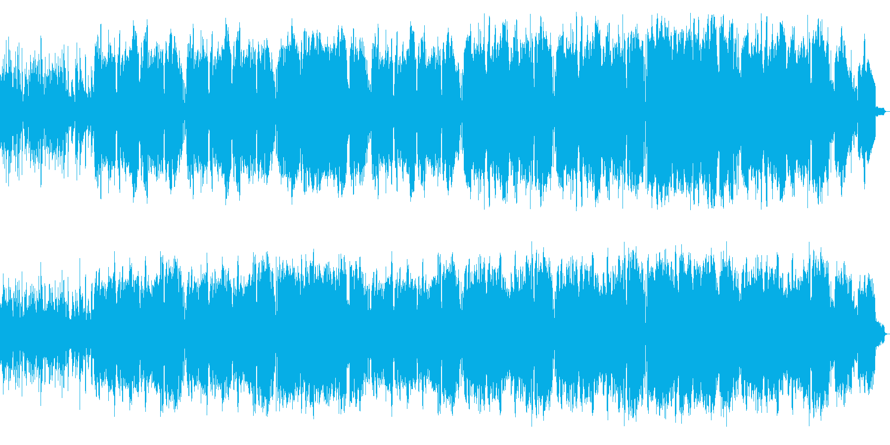 ピアノ、管での可愛らしいブライダルソングの再生済みの波形