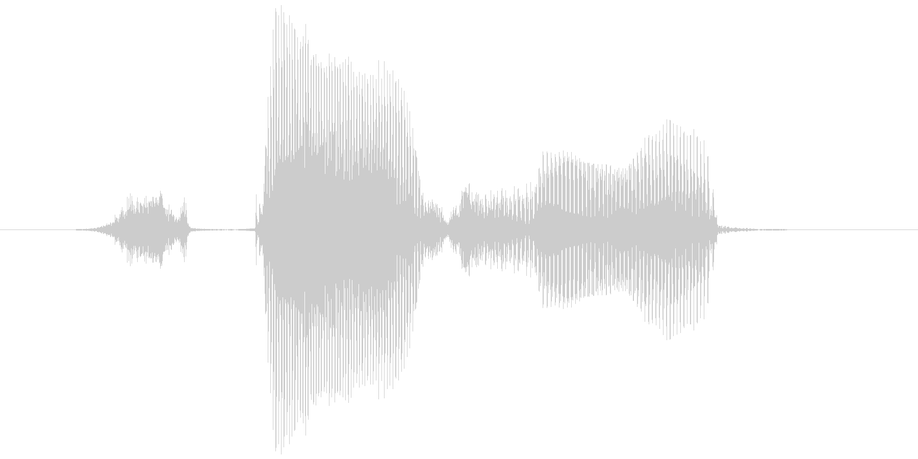 ステージ2(に)の未再生の波形