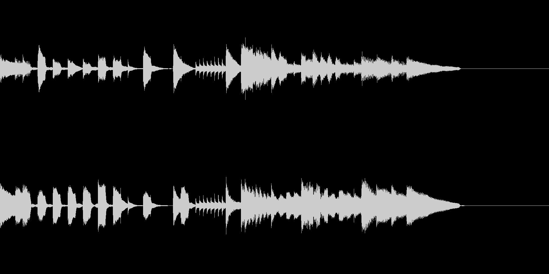 ピアノジングル5、明るい、かわいいの未再生の波形