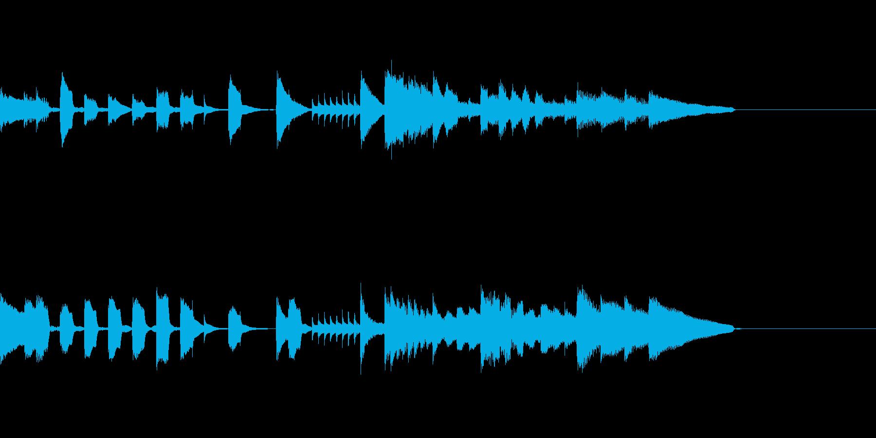 ピアノジングル5、明るい、かわいいの再生済みの波形