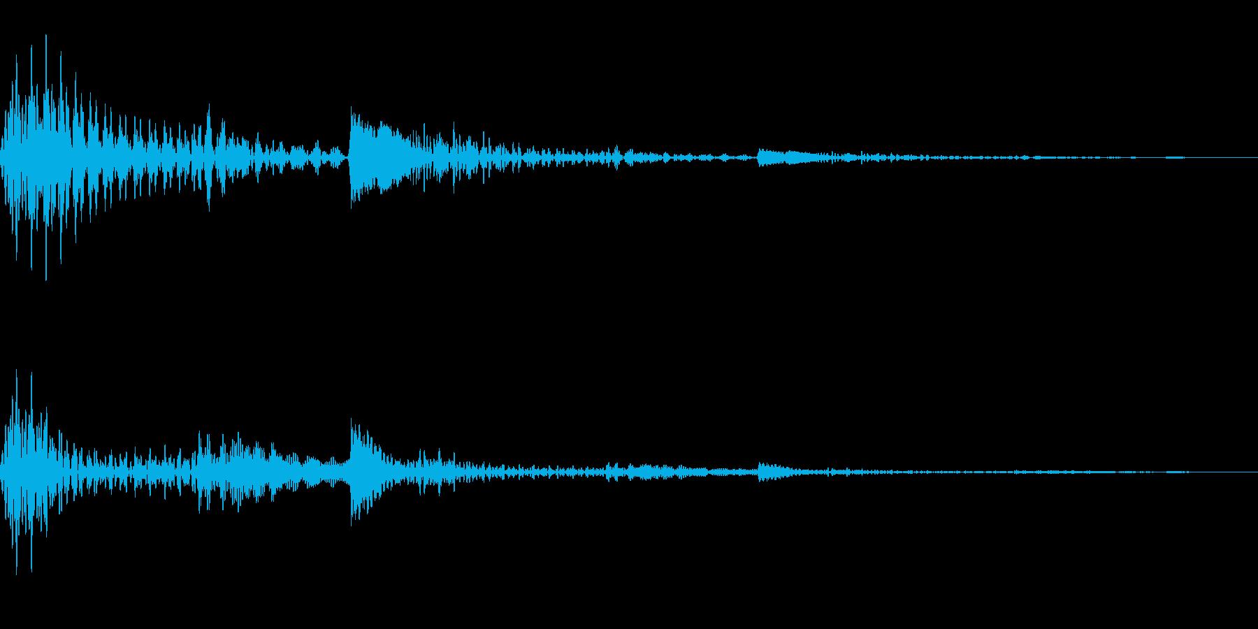 透明感のあるボタン音です。の再生済みの波形