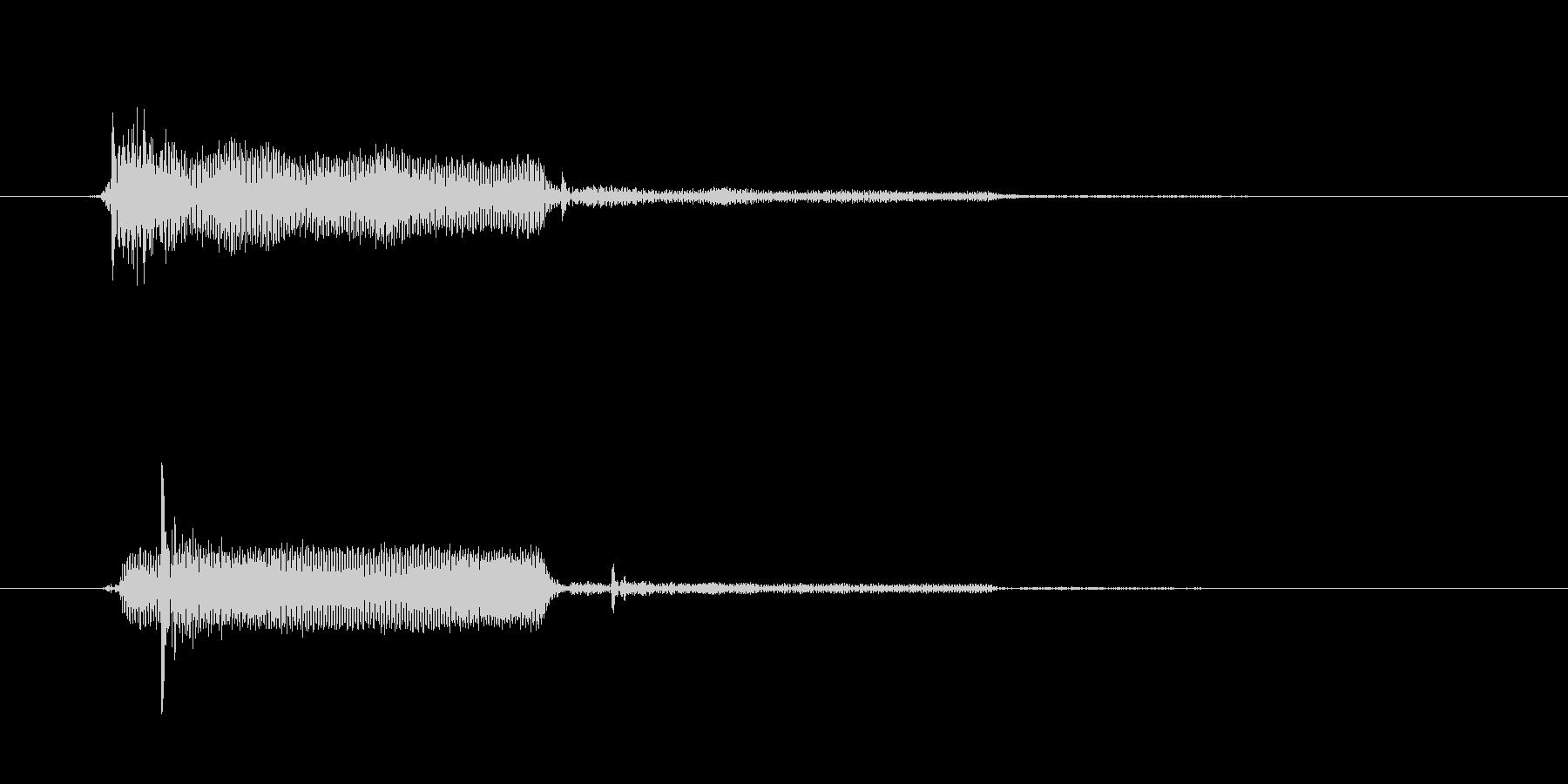 決定/クリック/選択音(固めの音)の未再生の波形
