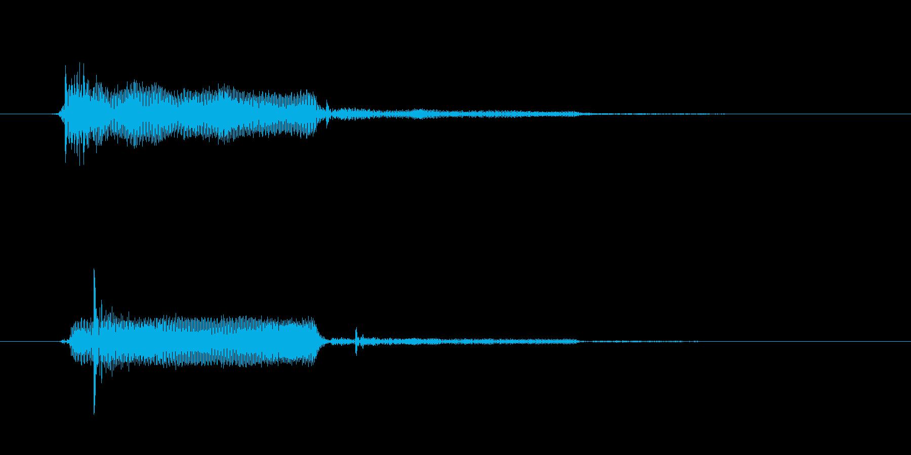 決定/クリック/選択音(固めの音)の再生済みの波形