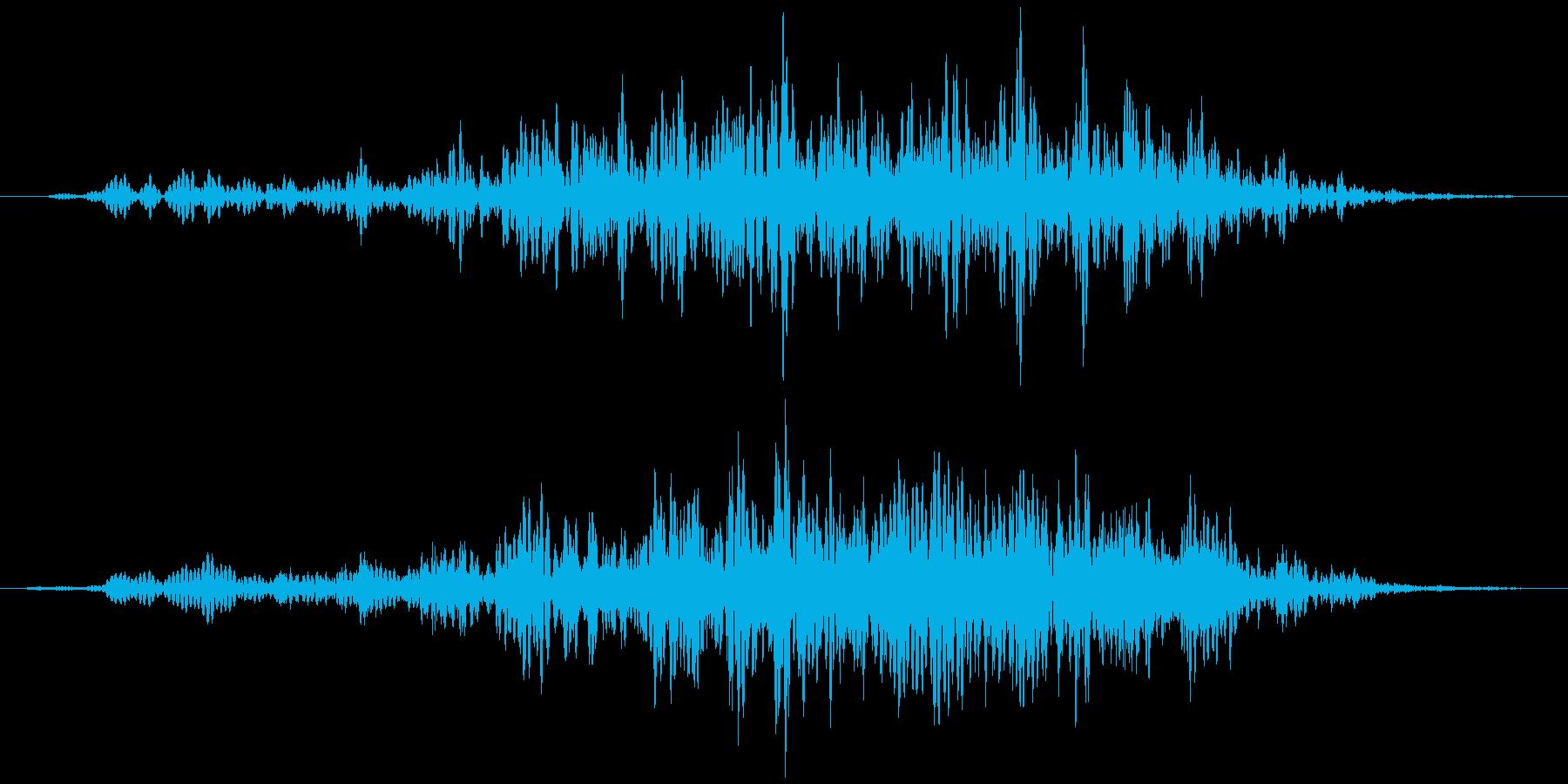 石、重い物など動かす(ズズッ+カラカラ)の再生済みの波形