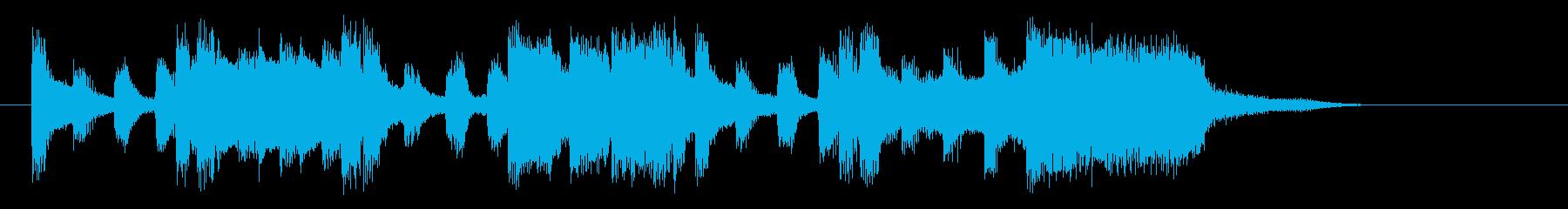 軽快でゆったりとしたピアノジングルの再生済みの波形
