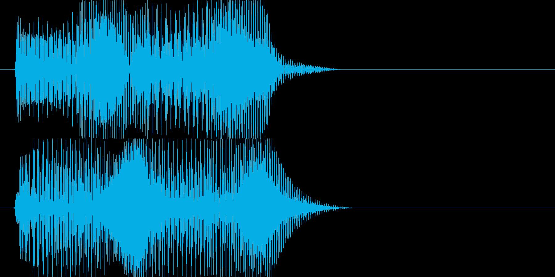 ピコピコ(エラー・アラート音 低音)の再生済みの波形