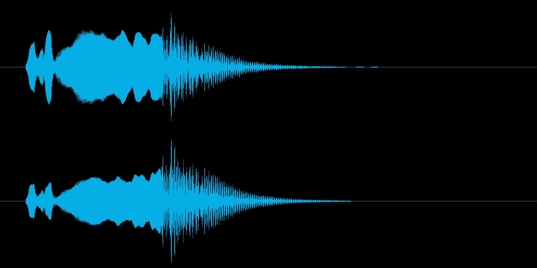和風、尺八タラララ~ドドンの再生済みの波形