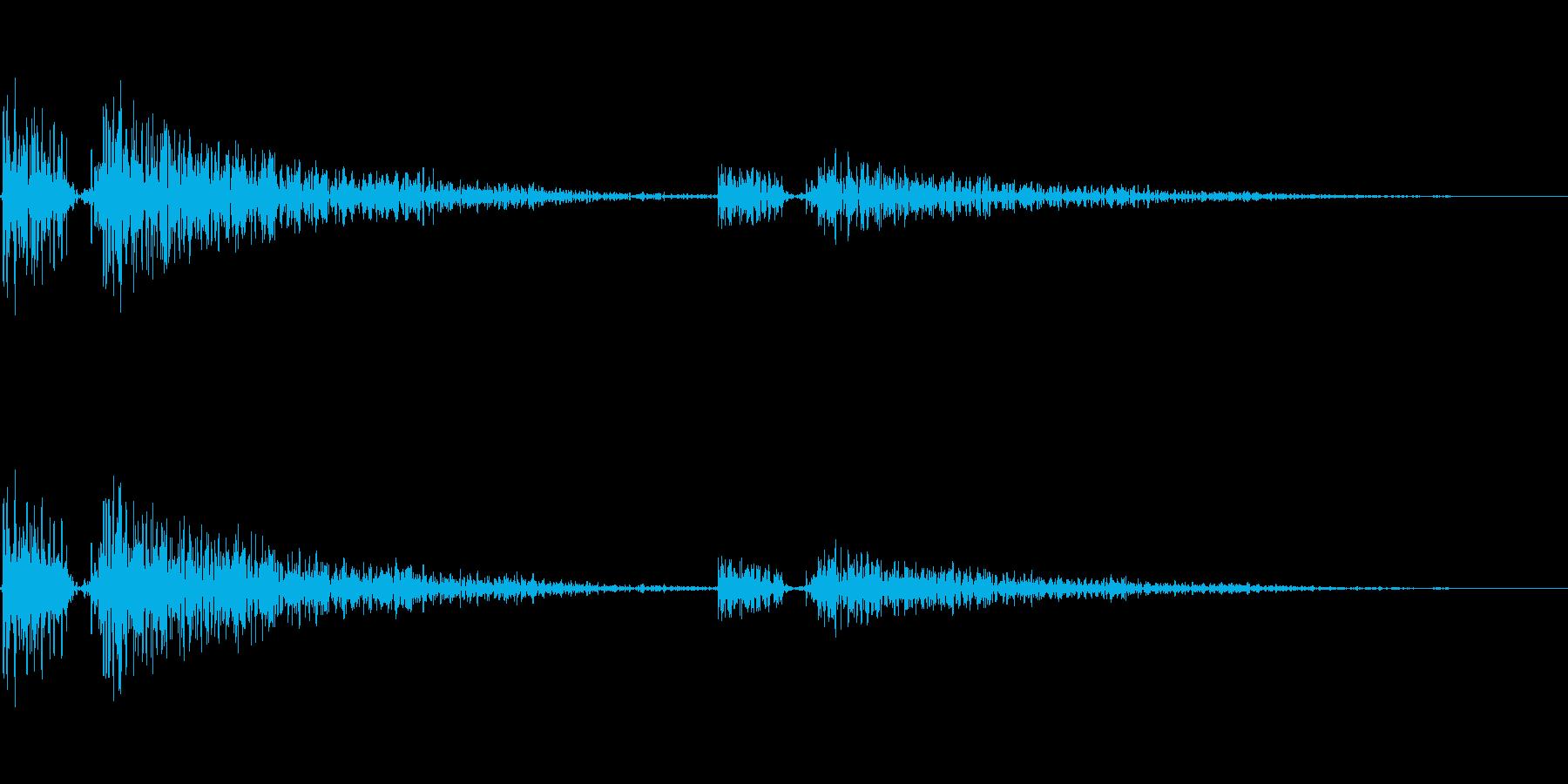 オードソックスなボタン、通知音です。の再生済みの波形