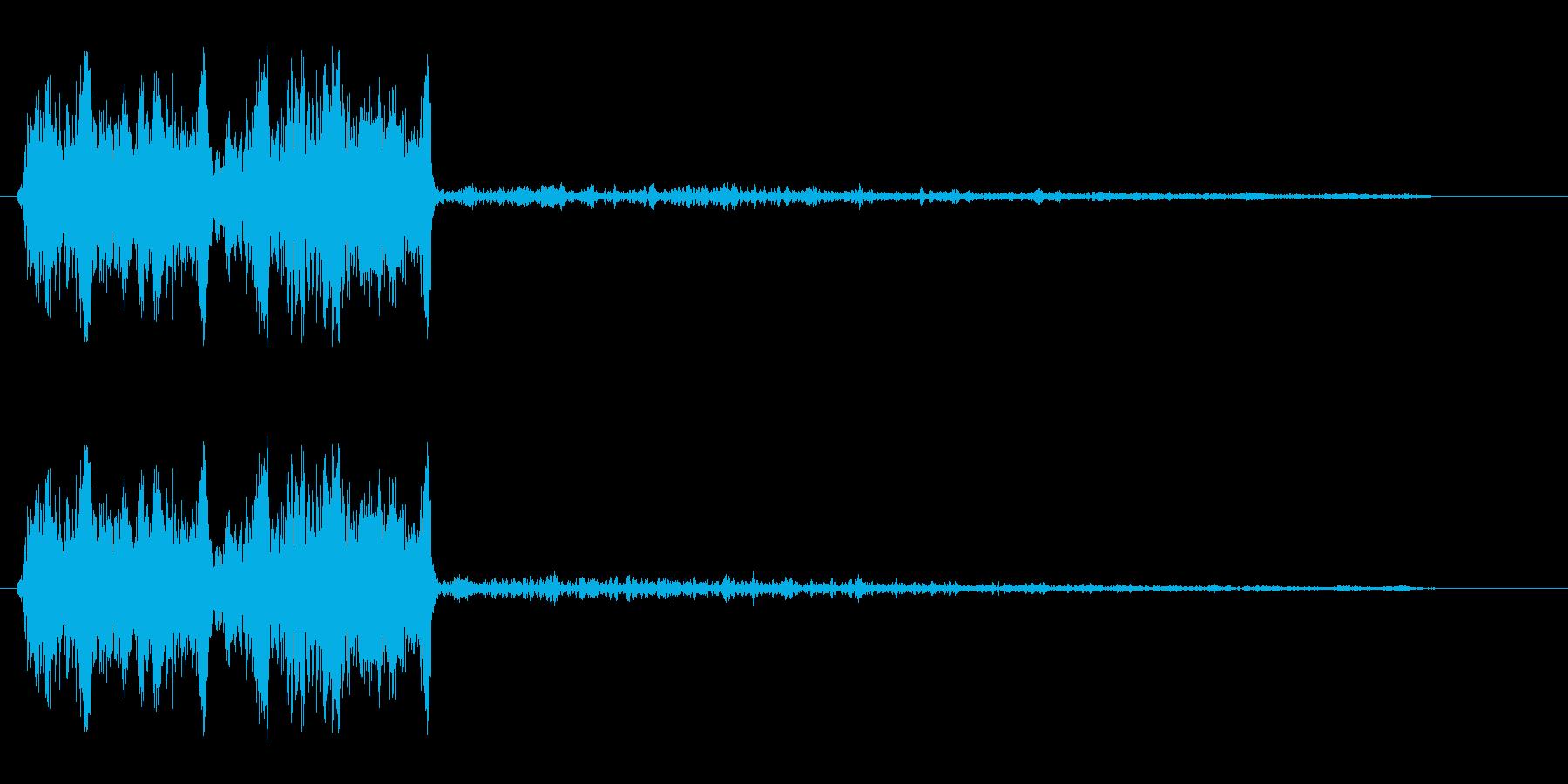 キュウッ(車のスリップのような音)の再生済みの波形