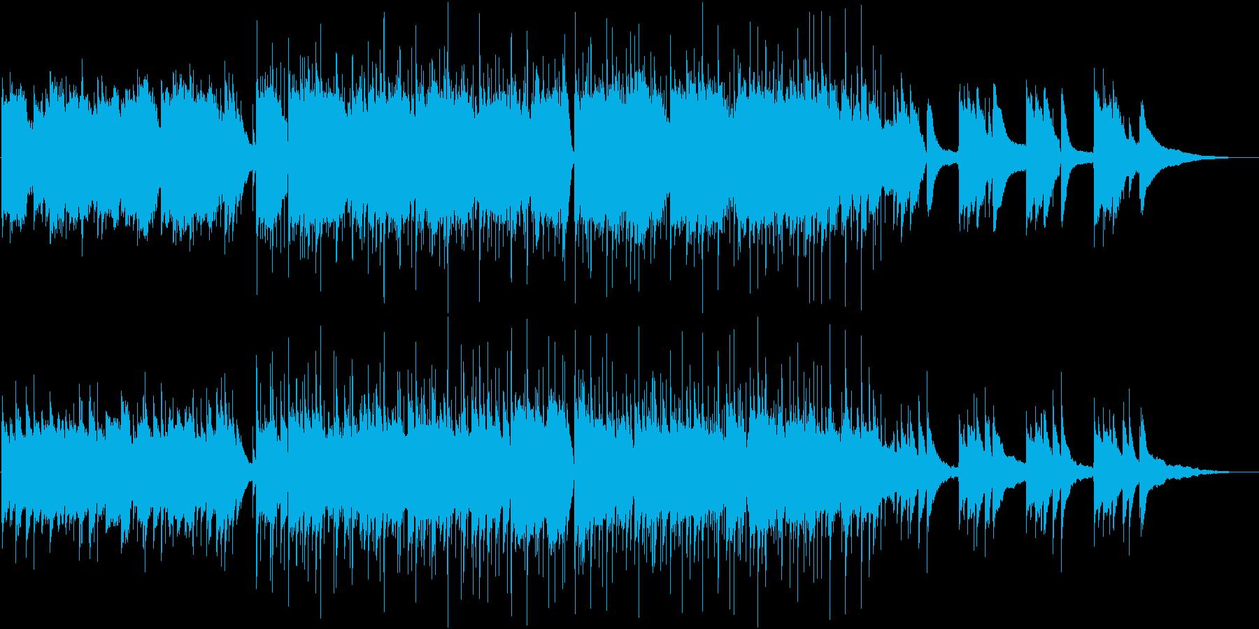 穏やかなピアノとリズムの再生済みの波形