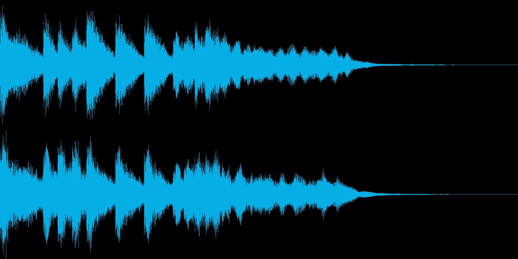 ファンファーレ シンプル ベル 13の再生済みの波形