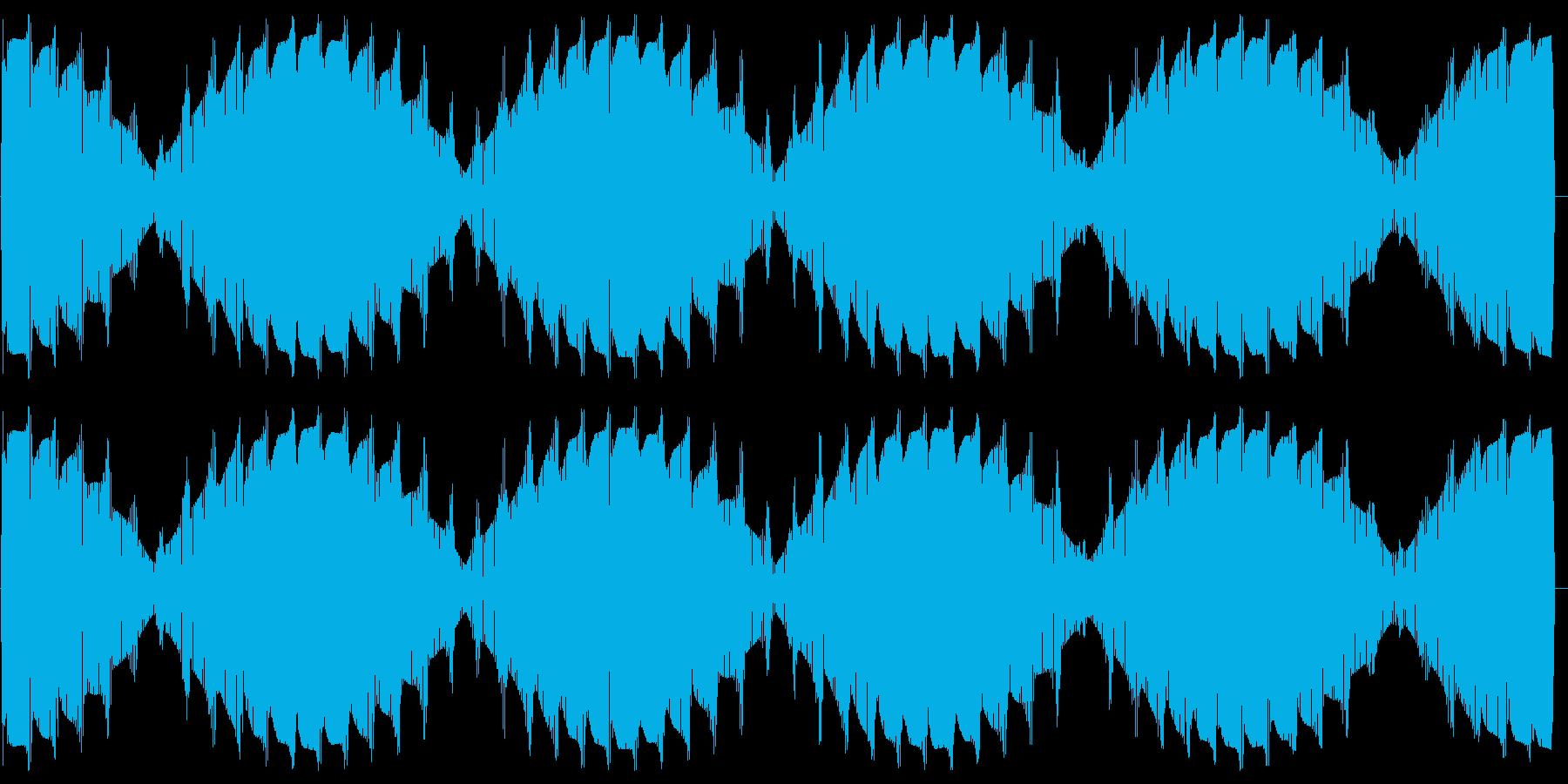 ワープエンジン(出力50%に保たれた音)の再生済みの波形